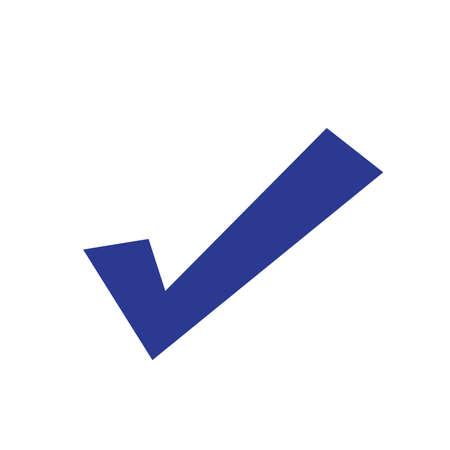 Checkmark icon, vector on white background  イラスト・ベクター素材