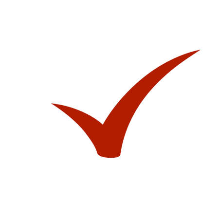 Checkmark icon, vector on white background Vectores