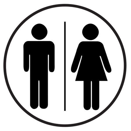 Toilets Icon Unisex. Vector man  woman icons. WC sign icon. Toilet symbol Stock fotó - 137896466