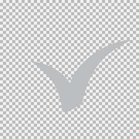 Checkmark icon, vector on white background