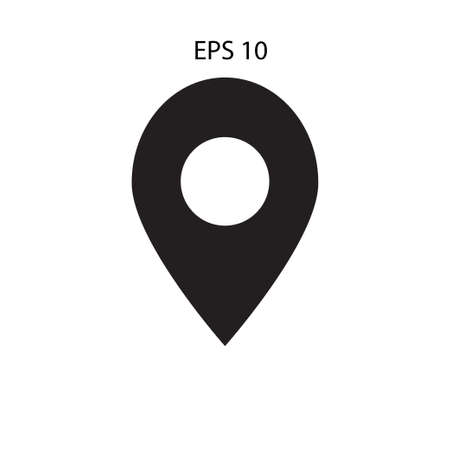 Map pins sign location icon. Vector  mark symbol