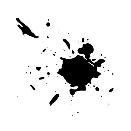 Black ink splash. Grunge splatters. Abstract background. Grunge text banners