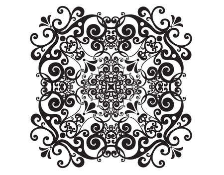 Vector damask vintage baroque ornament. Retro pattern antique style acanthus. Tile, wallpaper decor element.
