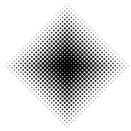 Vector collection of ink monochrome halftone squares shapes