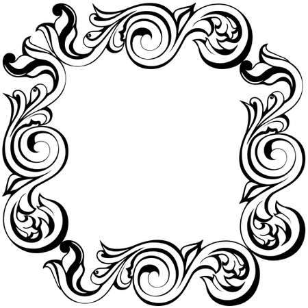 Vector damask vintage baroque ornament. Retro pattern antique style acanthus. ... Vector illustration Vettoriali