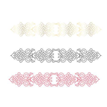 damask vintage baroque scroll ornament swirl. Victorian monogram heraldic shield swirl. Retro floral leaf pattern border foliage antique acanthus calligraphy engraved tattoo. Tile decor element Vector Illustratie