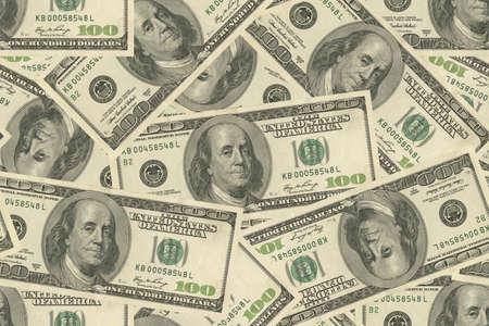 USA dollars background seamless pattern. 3D illustration. High quality illustration