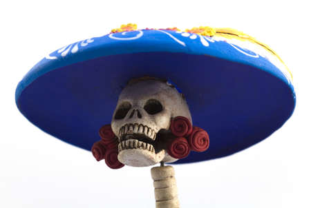 spanish culture: Tradtional mexican representation of the dead as a high class society