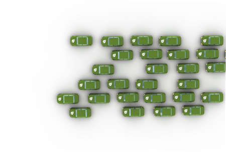 ethanol: Isolated 3D representation of a Ethanol Powered Vehicle Stock Photo