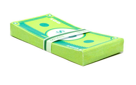 papercraft: Stack of money made in papercraft