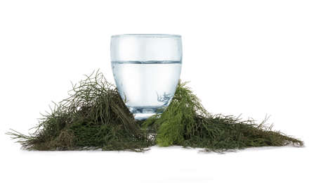 Isolated water with herbs around Stok Fotoğraf