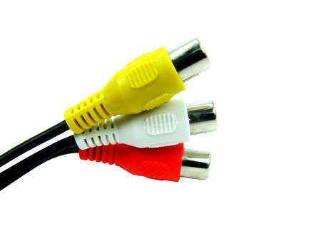 audio: Audio video connector Stock Photo