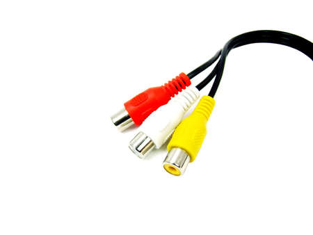 Audio video connector isolated, white background. Stock Photo