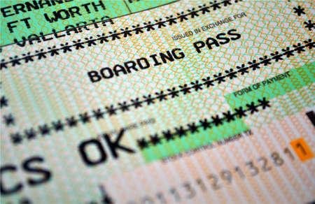Air travel boarding pass. Stock Photo