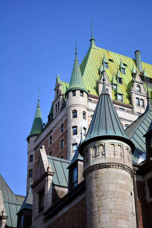 Chateau Frontenac, Quebec City most famous landmark. Stock fotó