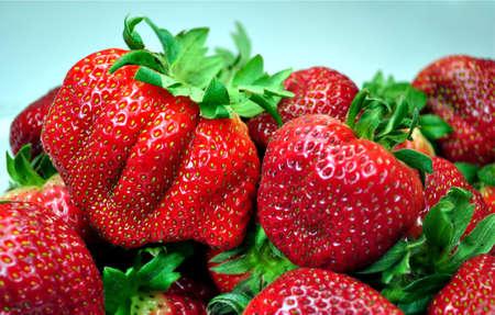 Fresh colorful, tasty strawberries