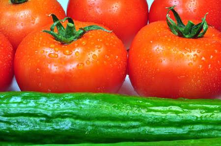cucumbers: Tomatoes and cucumbers