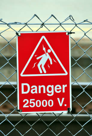 High voltage danger sign Stock Photo - 4757849