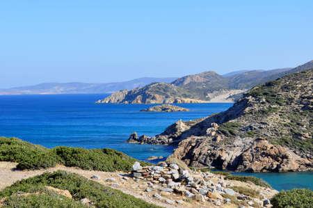 Fantastic view of the east coast of Crete
