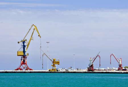 Cranes, loading equipment, port of Heraklion photo
