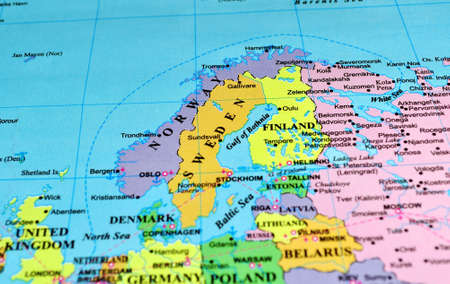 scandinavian peninsula: Scandinavian Peninsula and Baltic Shield, color map