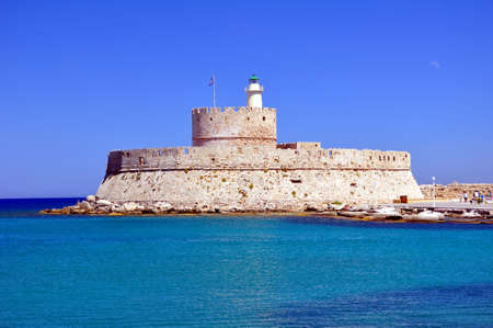 Fortress of Saint Nicholas, in the island of Rhodes,