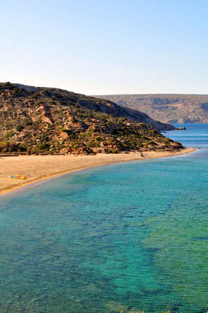 east end: Vai beach, on the far east end of Crete