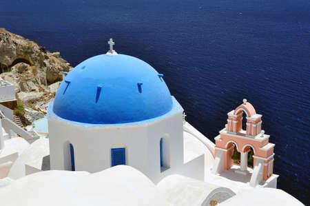 Beautiful island of Santorini, Greece photo