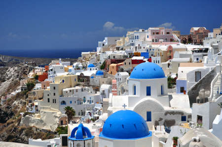 Beautiful island of Santorini, Greece. photo