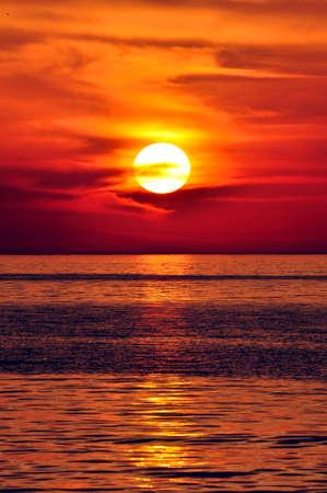 Sunset in the Mediterranean. Island of Crete, Greece. Stock Photo
