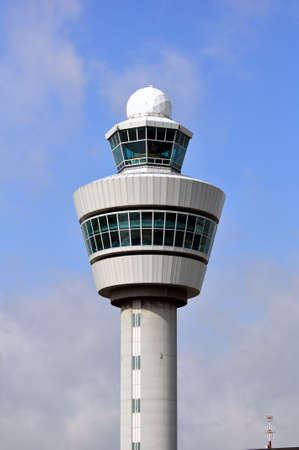air traffic: Air Traffic Control tower. Amsterdam Schiphol International. Editorial