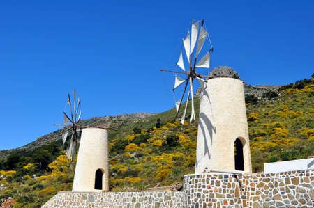 Traditional wind mills in the Lassithi plateau, Crete.