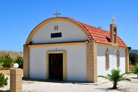Greek Orthodox chapel in the island of Crete, Greece. Banco de Imagens