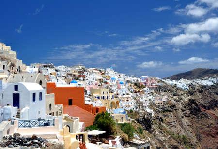 Beautiful island of Santorini, Greece.