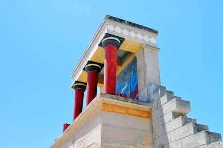 Archaeological site of Knossos. Minoan Palace. Crete. Greece. Stock fotó