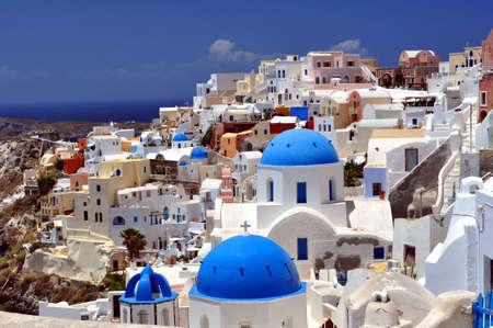 Travel photography: Beautiful island of Santorini, Greece.