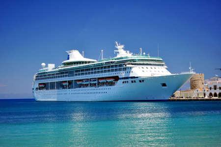 Cruise ship in the Mediterranean Sea Stock Photo