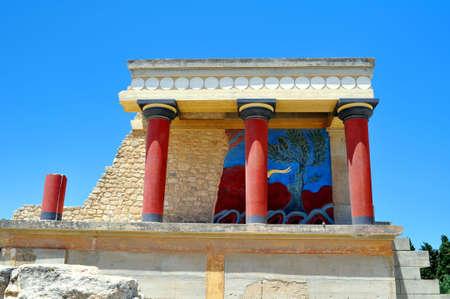 kreta: Arch�ologische St�tte von Knossos. Minoischer Palast. Kreta.