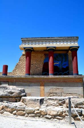 minoan: Archaeological site of Knossos. Minoan Palace. Crete.