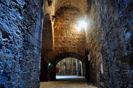 Interior of Venetian fortress in the Island of Crete, Greece photo