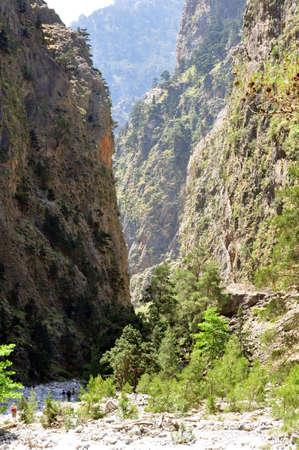 National Park of Samaria in the mediterranean island of Crete, Greece.