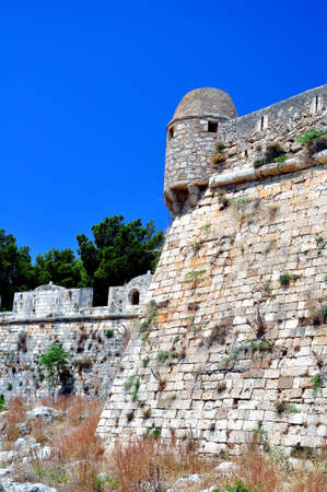 Travel Europe: medieval fortress in Rethymno, Crete, Greece