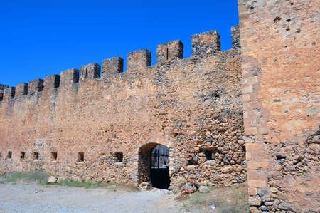 Frangocastello: venetian castle on the south coast of Crete, Greece.