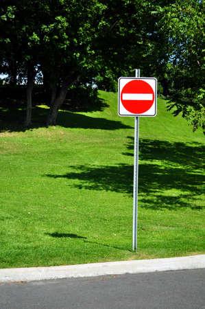 do not enter: Do not enter, wrong way traffic sign. Stock Photo