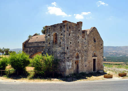 Historic Church of Ayios Georgios, Faistos, Crete, Greece.