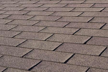Konstruktion: Detail Schindeln auf auf dem Hausdach.