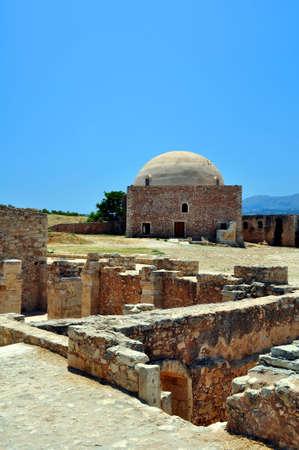 rethymno: Fortetza: Venetian fortress in Rethymno, Crete, Greece.