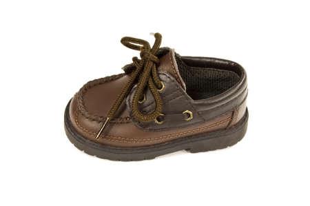 boys leather shoe. Stock Photo