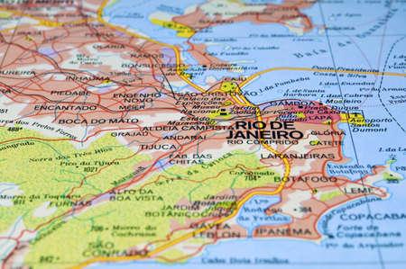 Road map of Rio de Janeiro City, Brazil.