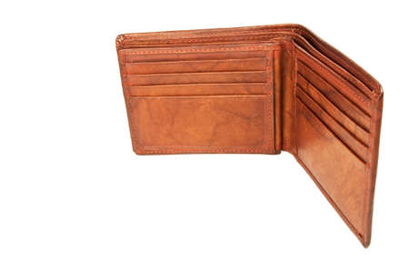 an empty leather wallet.